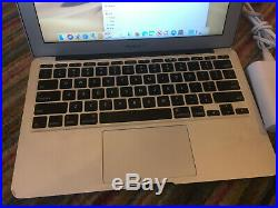 Apple MacBook Air 11.6 Silver Bundle Charger Core i5 1.70GHz 4GB RAM 64GB SSD