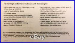 Apple MacBook Pro 15.4 2.8GHz 16GB 1TB SSD Laptop + 3 extra AC chargers