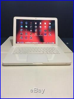 Apple MacBook White 13 MC207ll/A 250GB HDD 2.26GHz 4GB Ram, With Great laptop