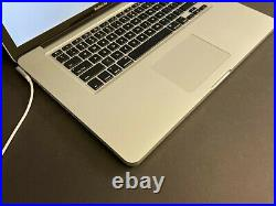 Apple Macbook Pro 15 A1286 2011 i7 2GHZ 4GB RAM Laptop GPU Issue SOLD AS IS