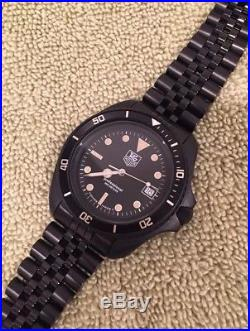 Serviced! PVD Black Tag Heuer 1000 Diver 980.006 844 Bamford Submariner Style