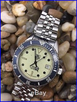 Serviced TAG Heuer 980.113 1000 Night Diver Full Lume Dial James Bond Dive Watch