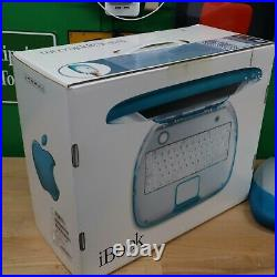 VTG Apple iBook Clamshell G3 withOriginal BOX -Blueberry- EXCELLENT cond, works