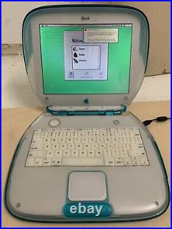 Vintage APPLE iBook G3 Blueberry CLAMSHELL LAPTOP